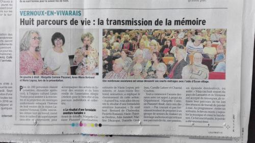 article Dauphiné 7 juin 2018