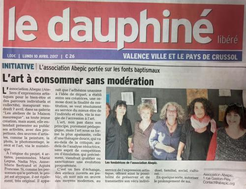 article dauphiné inauguration